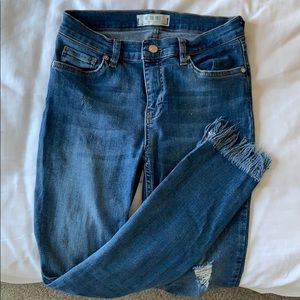 Fringe bottom stretch jeans from Free People